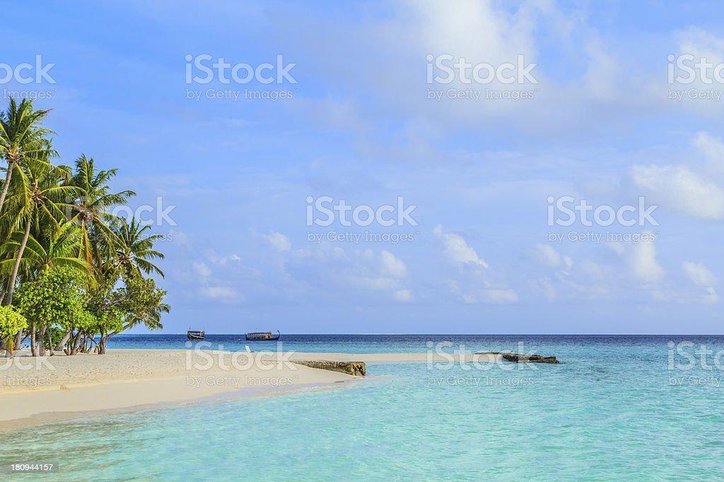 Perfect tropical island paradise beach. royalty-free stock photo