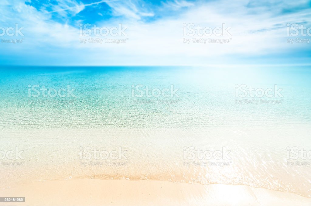 Perfect tropical paradise beach / Sunny day sea paradise stock photo
