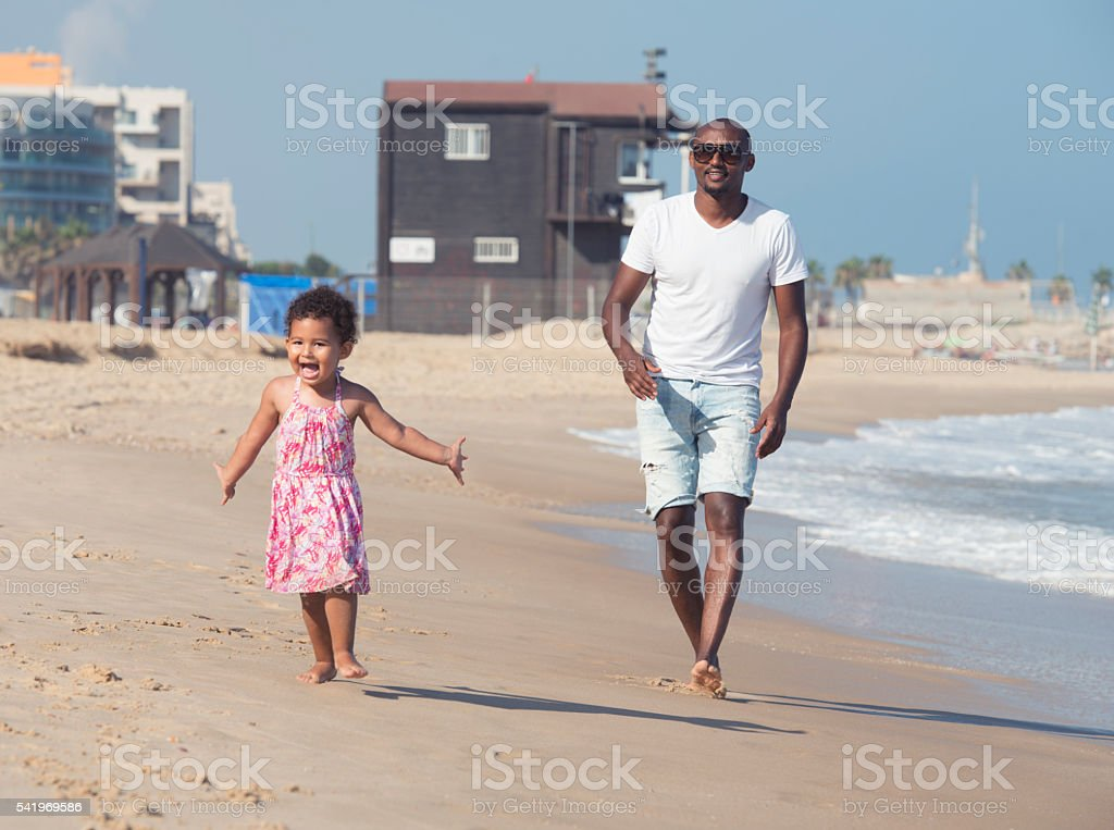 Perfect vacation with my uncle! stock photo