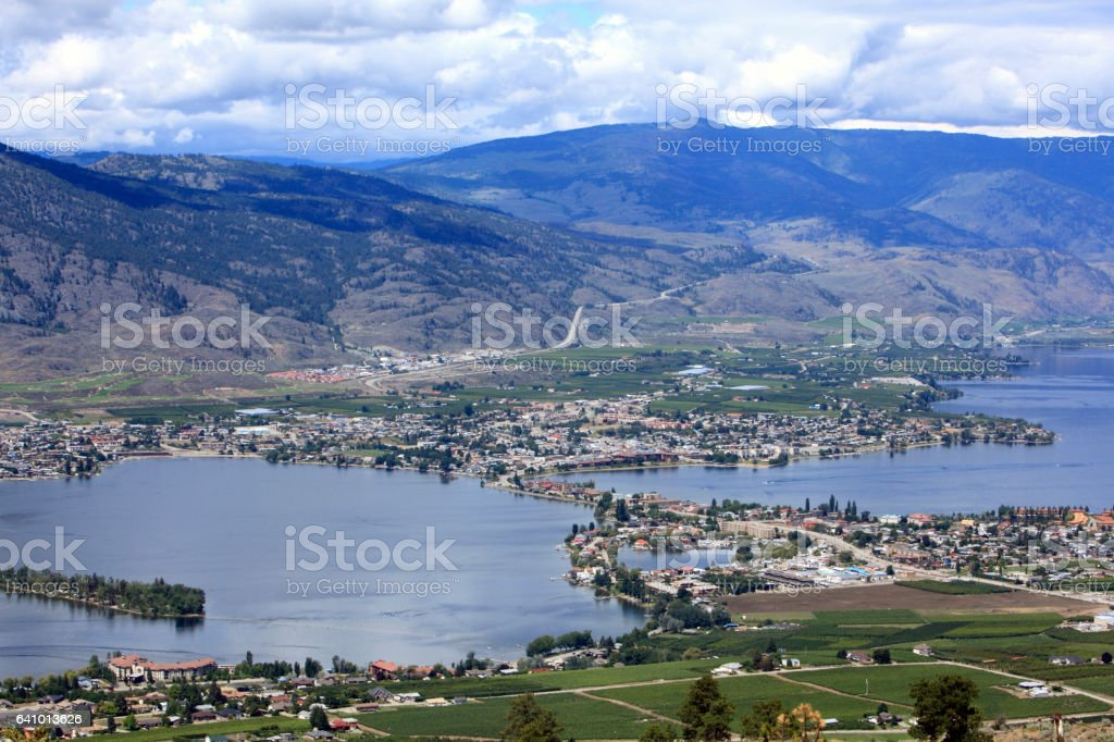 Perfect View Of Osoyoos British Columbia stock photo