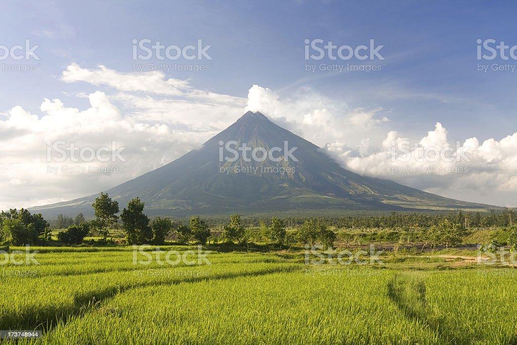 Perfect volcano stock photo
