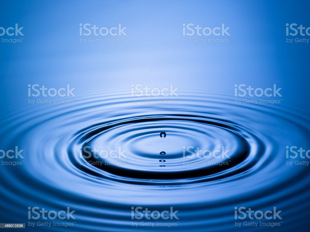 Perfect Water Drip stock photo