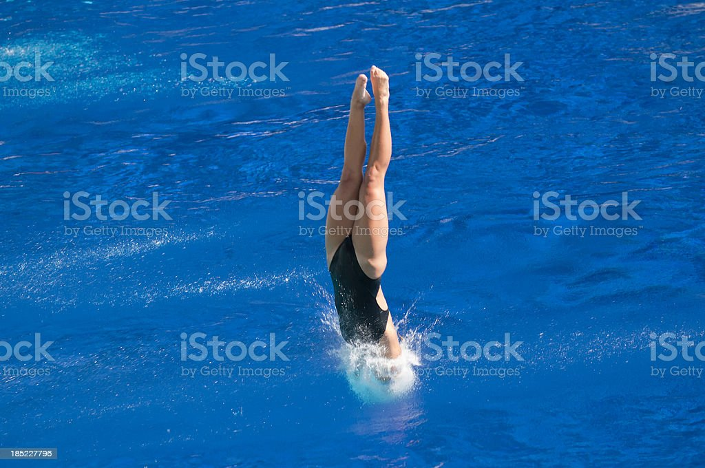 Perfect water entry stock photo