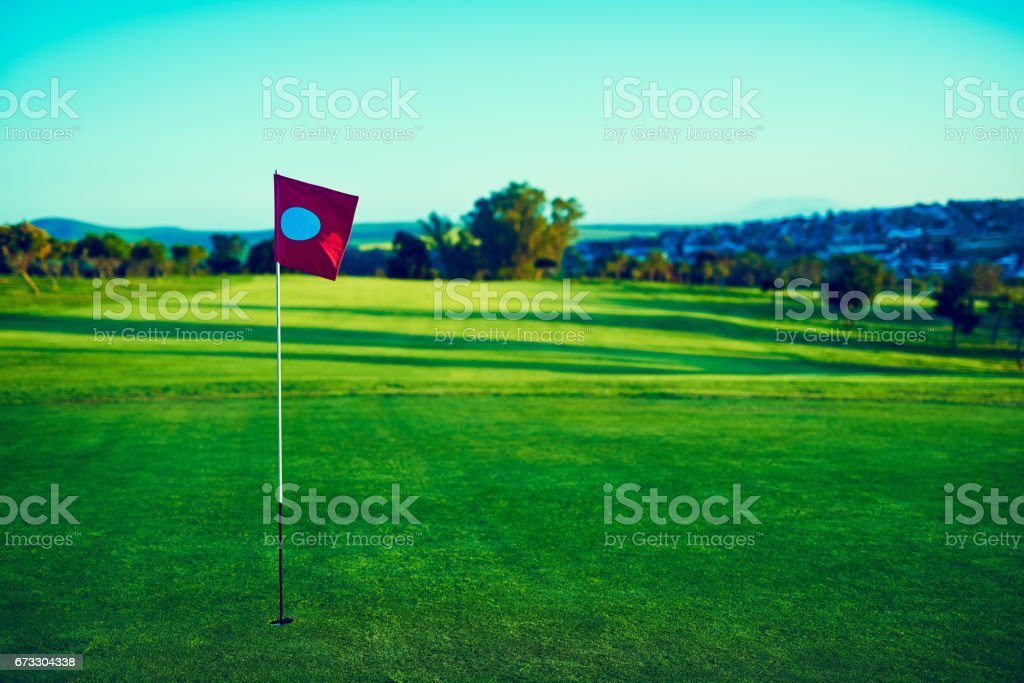Perfect weather to play golf stock photo