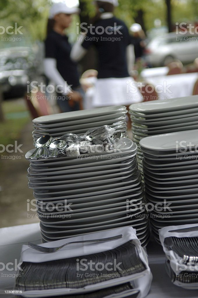 Perfect wedding catering royalty-free stock photo