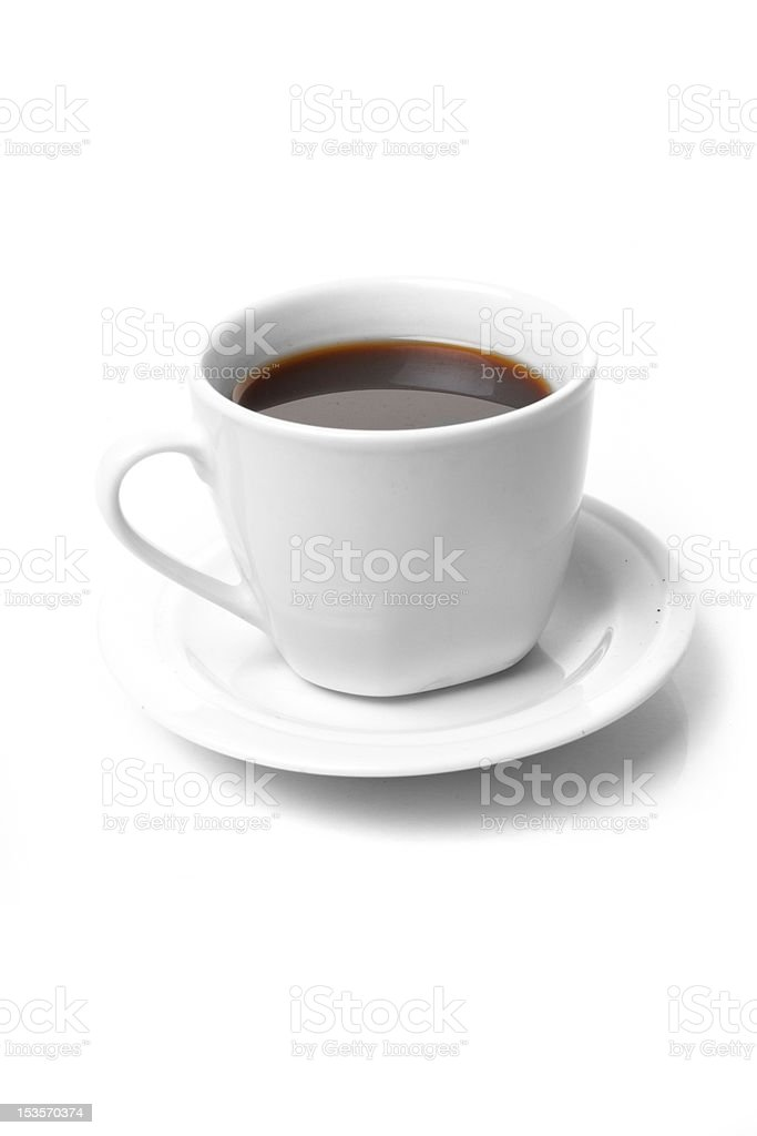 Perfect white coffee cup royalty-free stock photo
