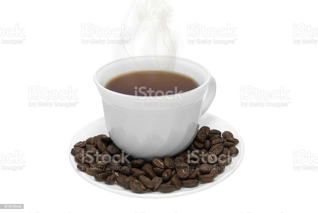 Tasse à café blanche parfaite photo libre de droits