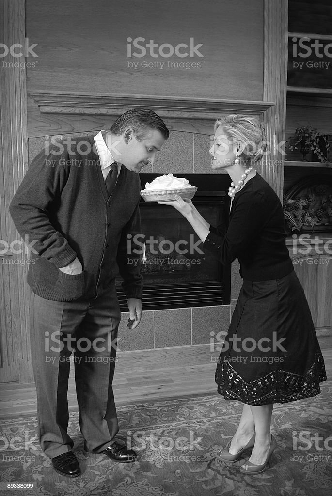 """perfect wife"" retro couple series royalty-free stock photo"