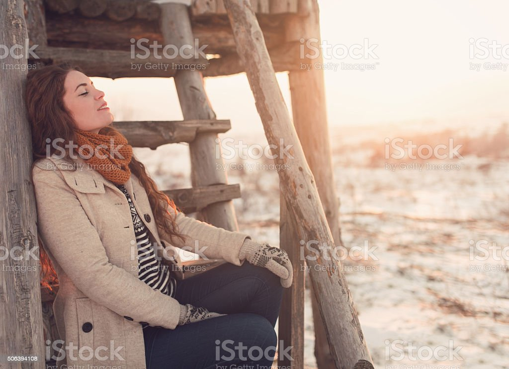 Perfect Winter Hideaway stock photo