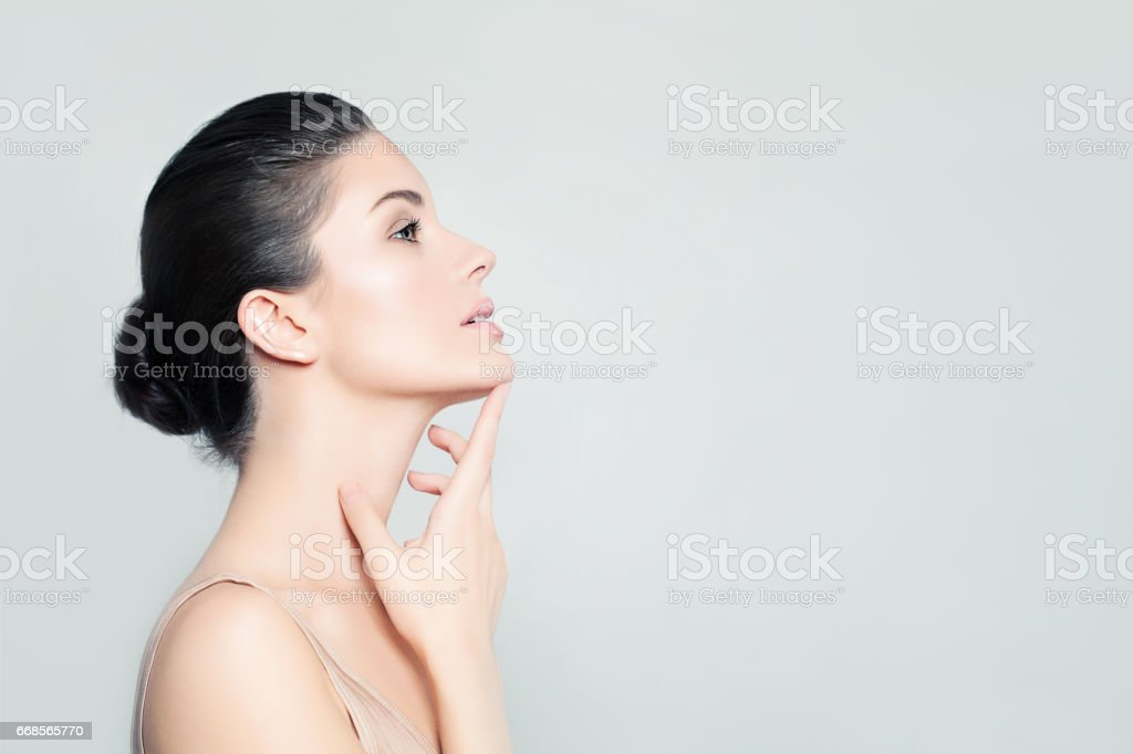 Perfect Woman Spa Model with Healthy Skin. Spa Beauty, Facial Treatment and Cosmetology Concept stock photo