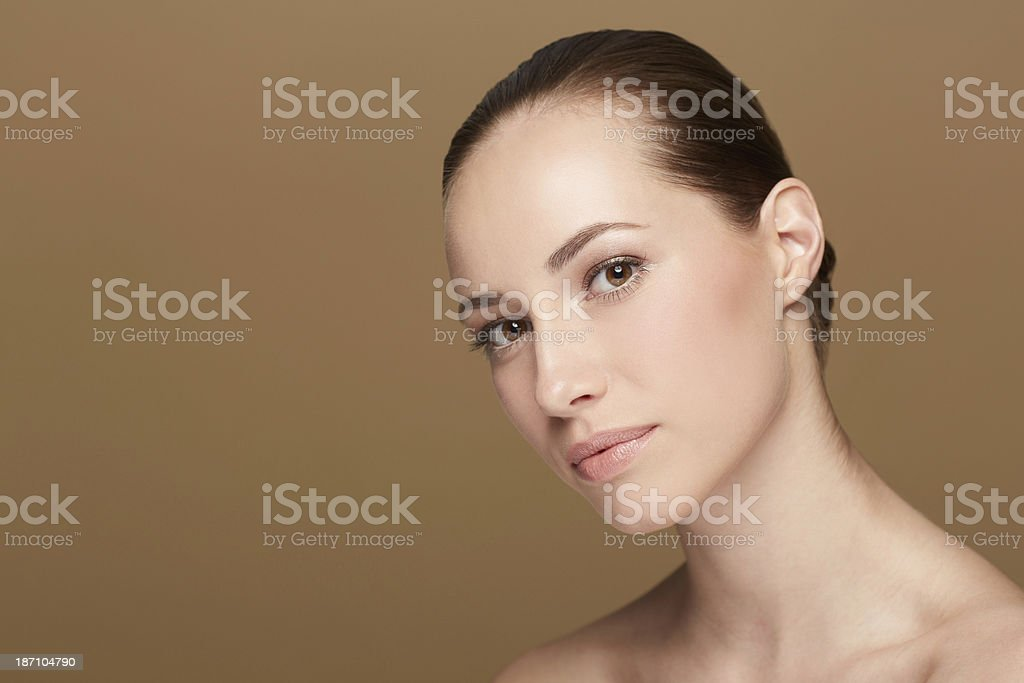 Perfecting the flawless winter look royalty-free stock photo