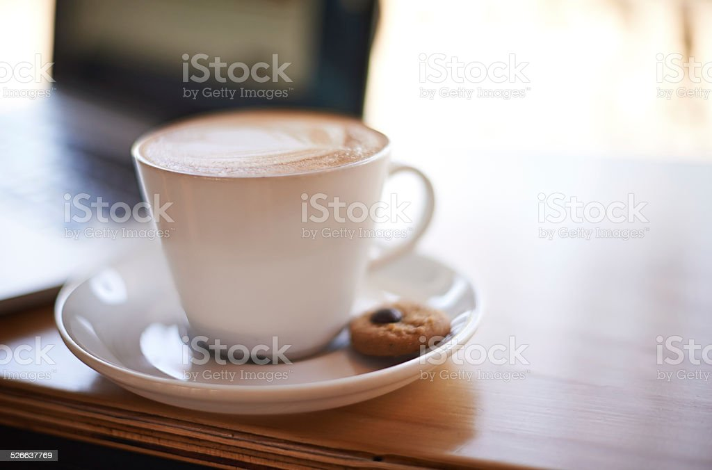 Perfection in a cup stock photo