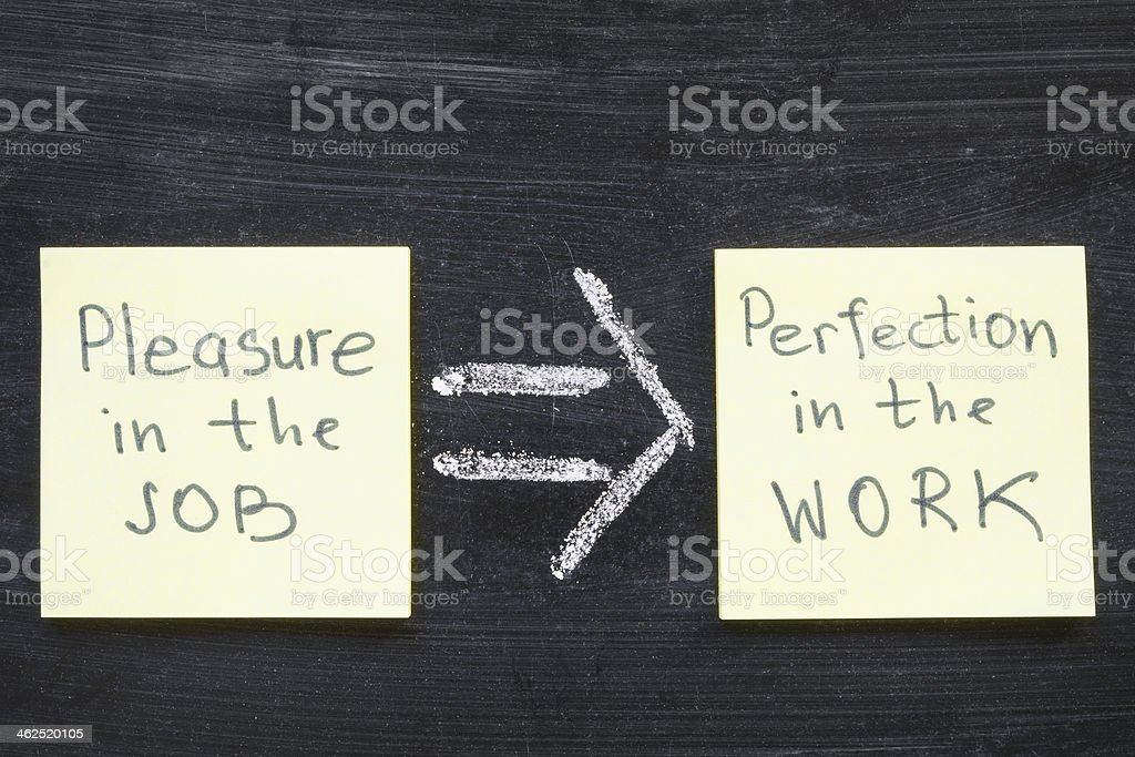 perfection in work stock photo