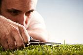 Perfectionist - Garden Gardening Perfection Grass Scissors Humor