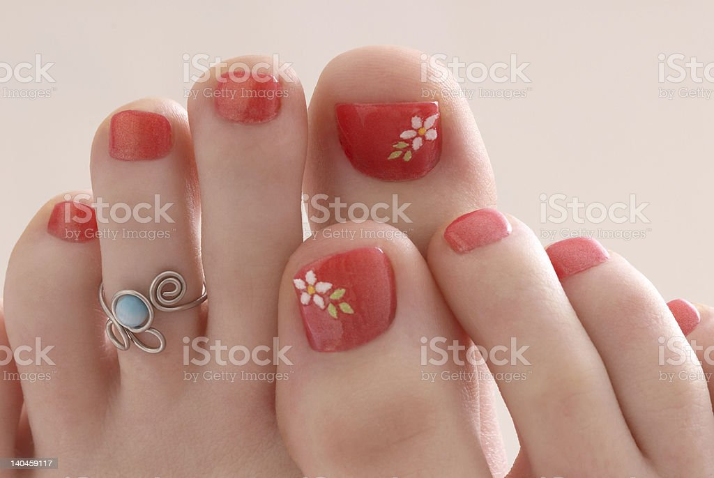 Perfectly Pedicured stock photo