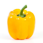 Perfectly ripe sweet yellow bell pepper