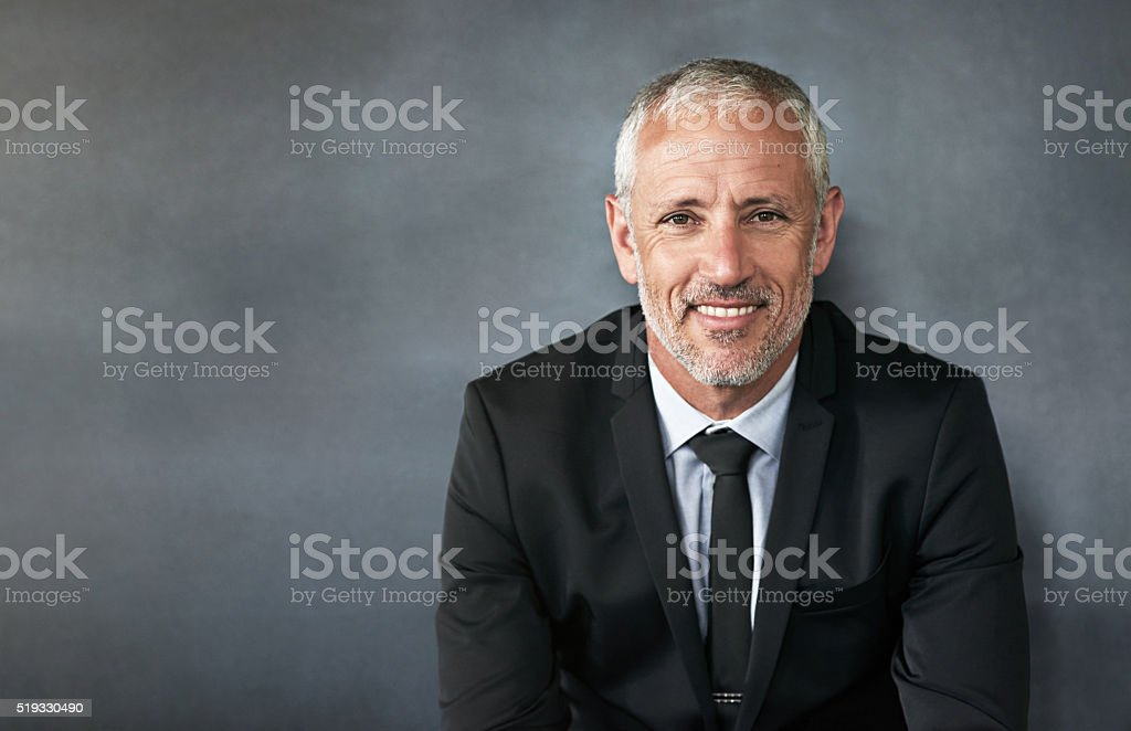 Perfectly suited to the corporate world stock photo