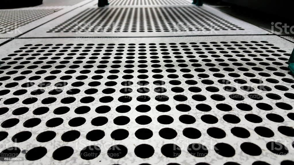Perforated Airflow Panel or server room stock photo