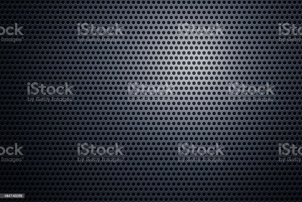 Perforated metal plate stock photo