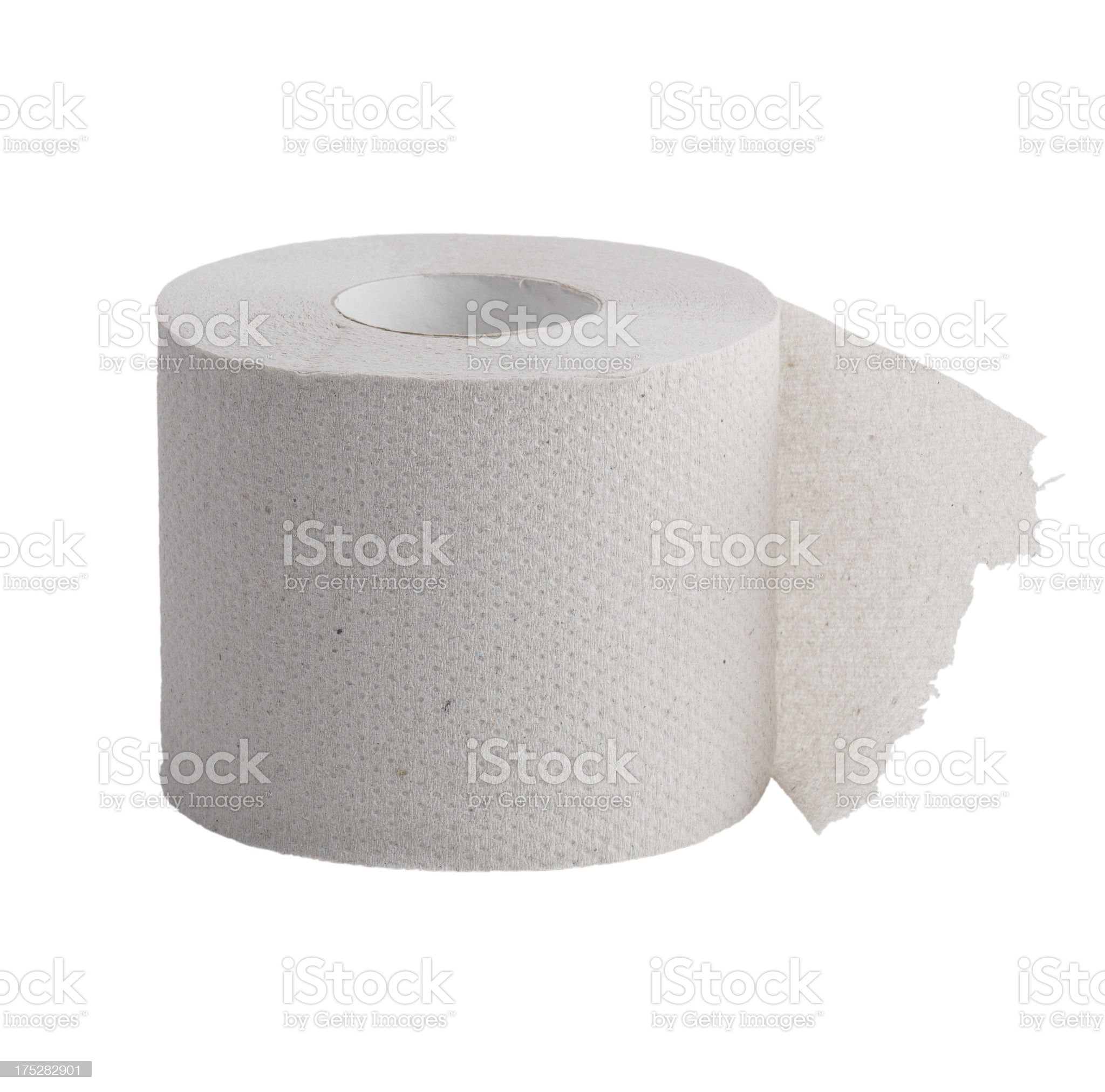 Perforated roll of toilet paper royalty-free stock photo