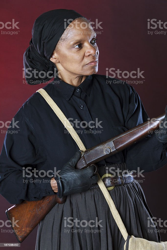 Performance Artist Portraying Harriet Tubman royalty-free stock photo