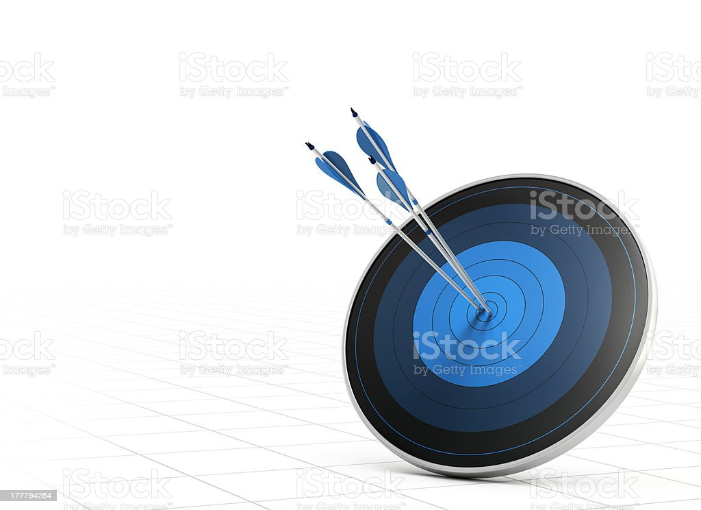 Performance Concept, Arrow and Target stock photo