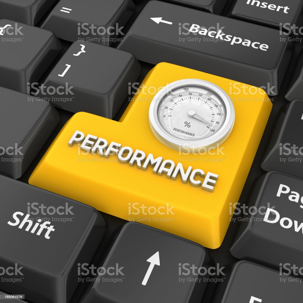 performance enter key stock photo