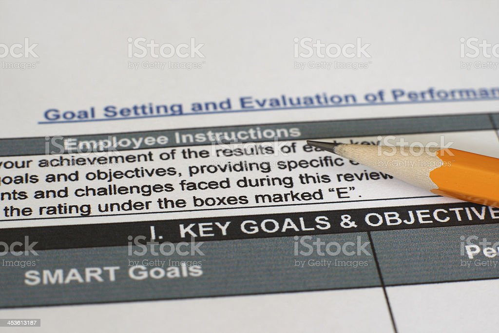 Performance evaluation form royalty-free stock photo