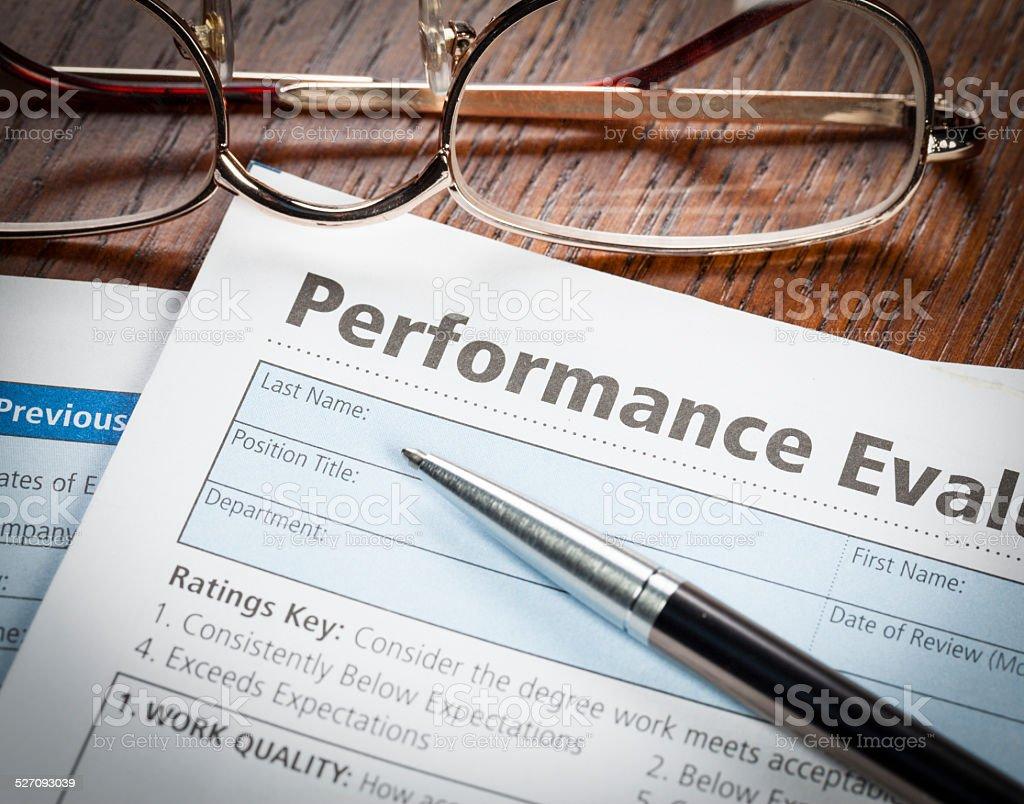 Performance Evaluation stock photo