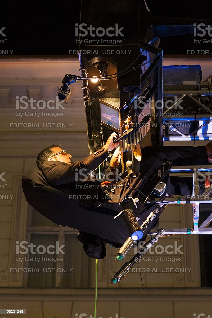 Performance of David Moreno stock photo