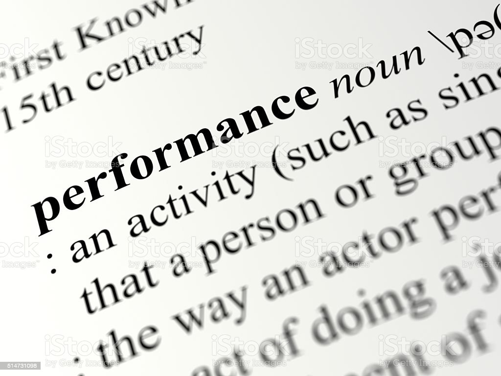 Performance stock photo