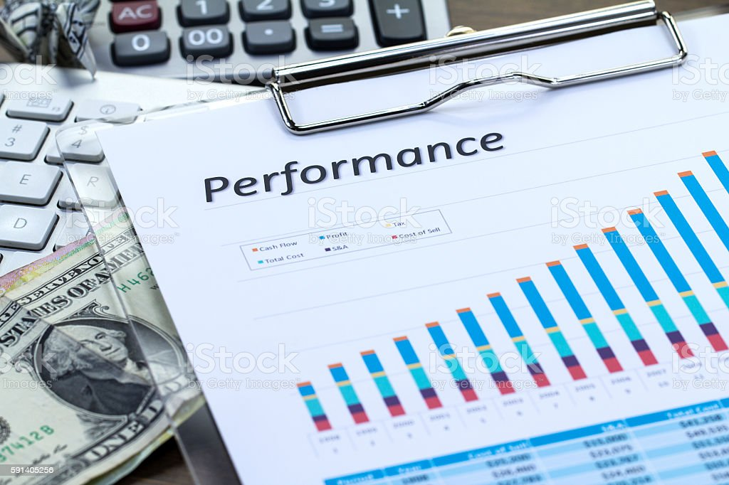 Performance Report stock photo