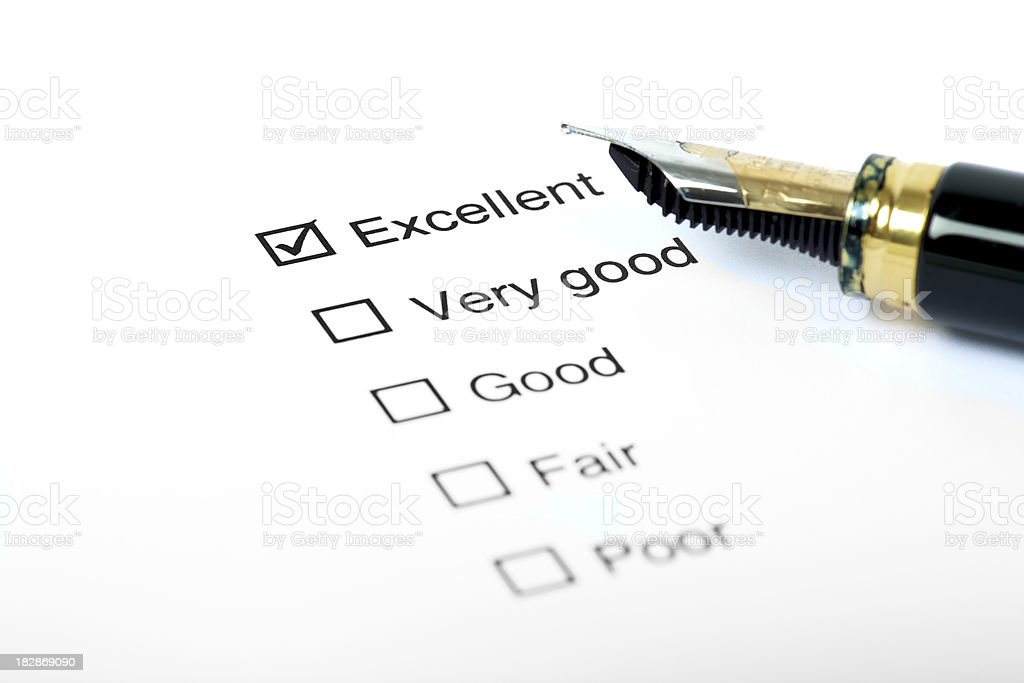 Performance review royalty-free stock photo
