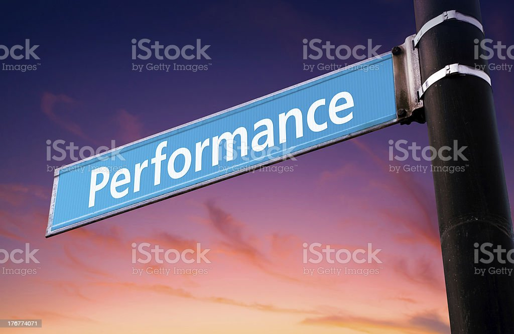 Performance Road Sign royalty-free stock photo