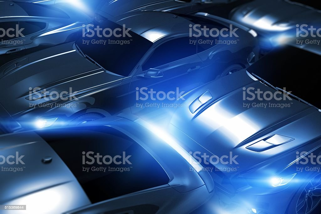 Performance Vehicles in Stock stock photo