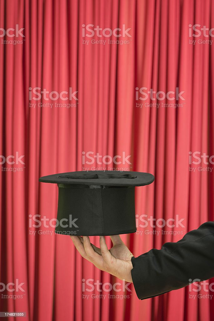 Performance with top hat royalty-free stock photo