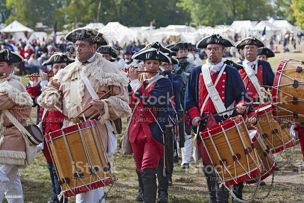 Performers at Feast of the Hunter's Moon, West Lafayette, Indiana stock photo