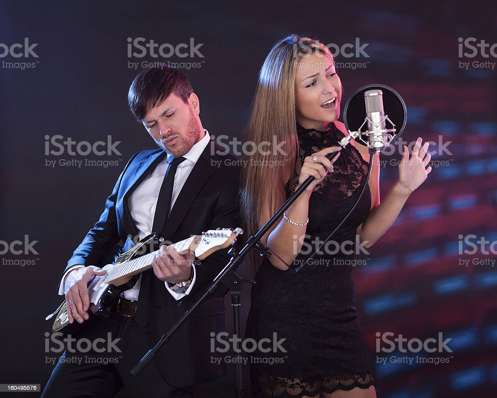 Performers entertain audience royalty-free stock photo