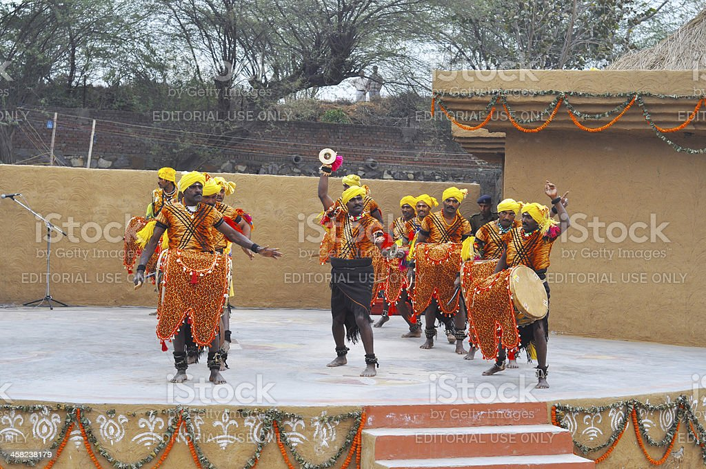 Performers performing Karnataka dance royalty-free stock photo