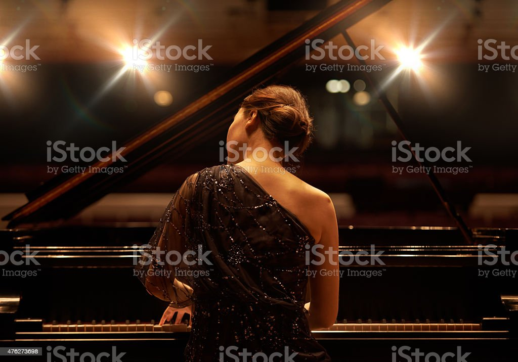 Performing for the audience stock photo