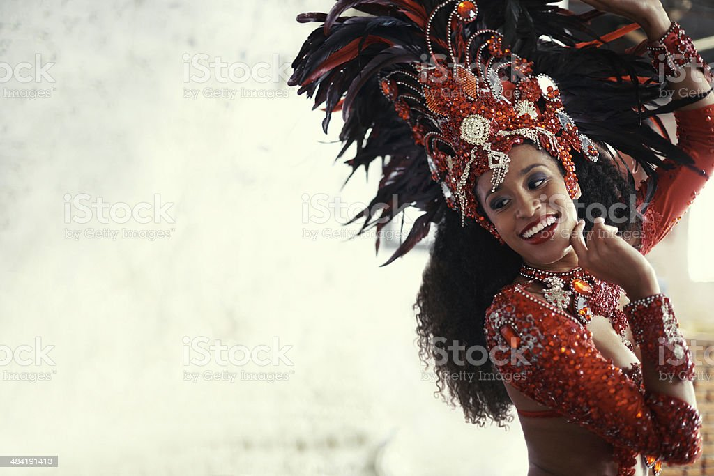 Performing live brings a smile to all stock photo
