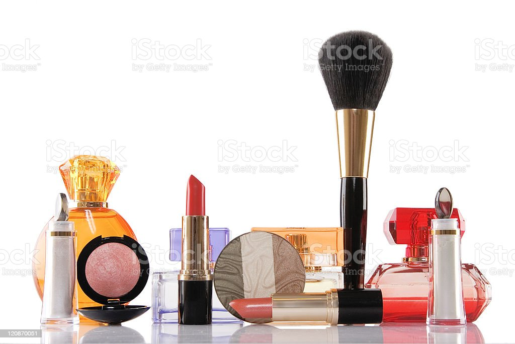perfume and make-up, beauty concept stock photo