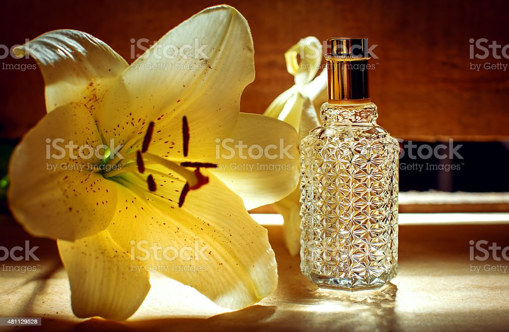 Perfume, Aromatherapy, Orchid. stock photo