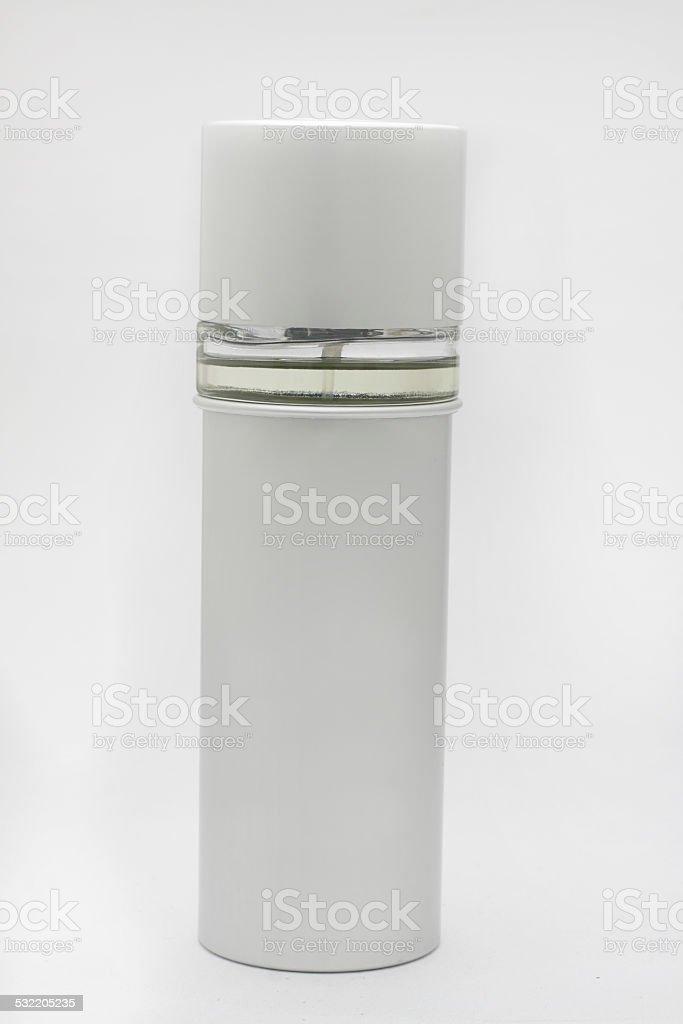 Perfume bottle on white background stock photo