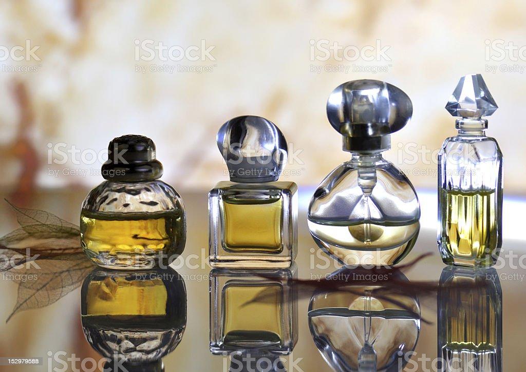 perfume bottles royalty-free stock photo