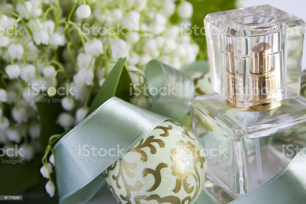 Perfume composition royalty-free stock photo