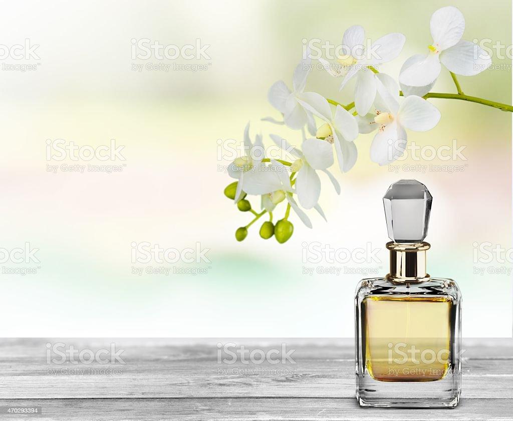 Perfume. Flower essence stock photo