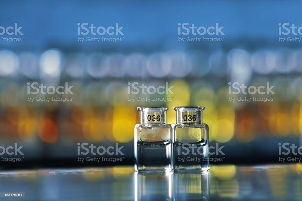 Perfume- Glass bottle stock photo