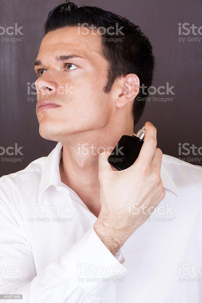 perfume man stock photo