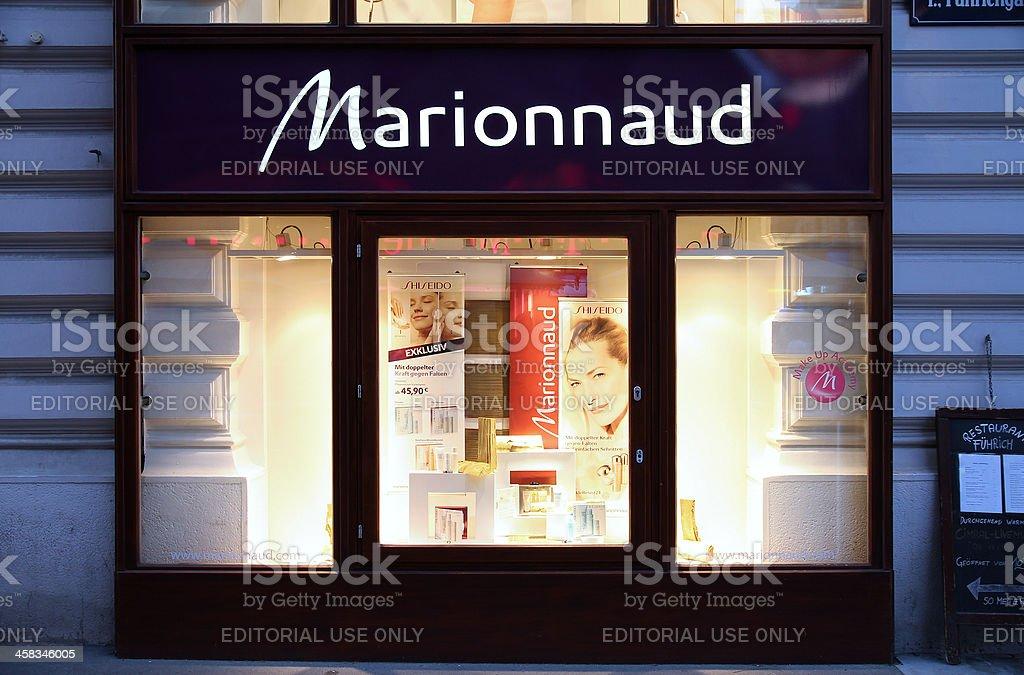Perfume shop in Vienna stock photo